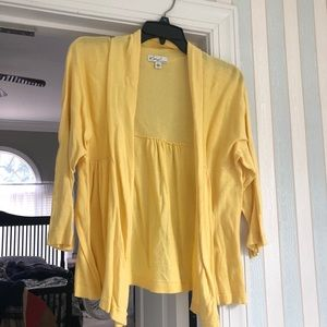 Yellow Cardigan, Size Large